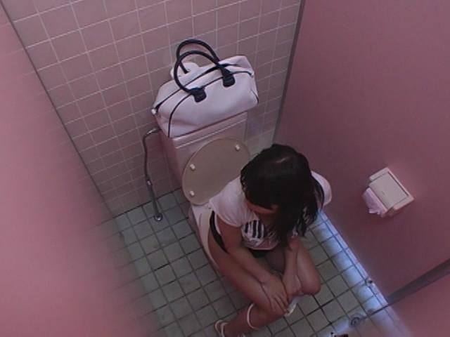 ミニスカパンチラ女追跡 覗きトイレオナニー盗撮のサンプル画像
