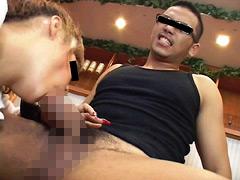 【ゲイ 射精 動画】ノンケが苦痛の表情で精子を絞り出し 挑戦開始