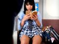 制服美少女の電車パンチラ-5