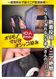 「新着投稿!マニア絶賛 SNSで漁れるガチ素人さんのシミパン」のパッケージ画像