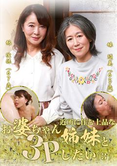 【須美動画】準近所に住む上品なお婆ちゃん姉妹と3Pしたい(3) -熟女