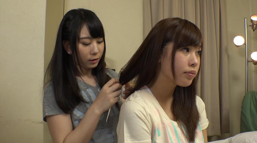 JK姉妹と先輩のトライアングルLOVE3Pレズ