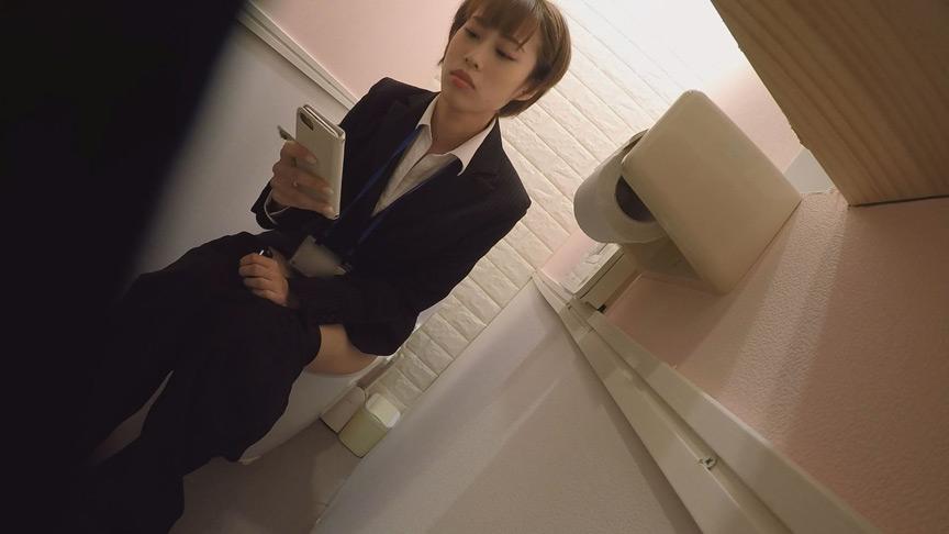オフィスビル 女子トイレ放尿OL盗撮オナニーのサンプル画像8