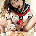 教師驚愕!ぶりっ☆子、春海りくの人間便器!