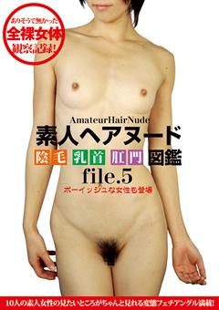 素人ヘアヌード 陰毛 乳首 肛門 図鑑 file.5