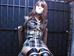 夏川梨花 - 囚われたサイハイブーツの女【復刻奇面城】 - 全篇