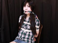 【小口美央動画】小口美央—スカーフ瘤付噛ませ猿轡—その3 -SM