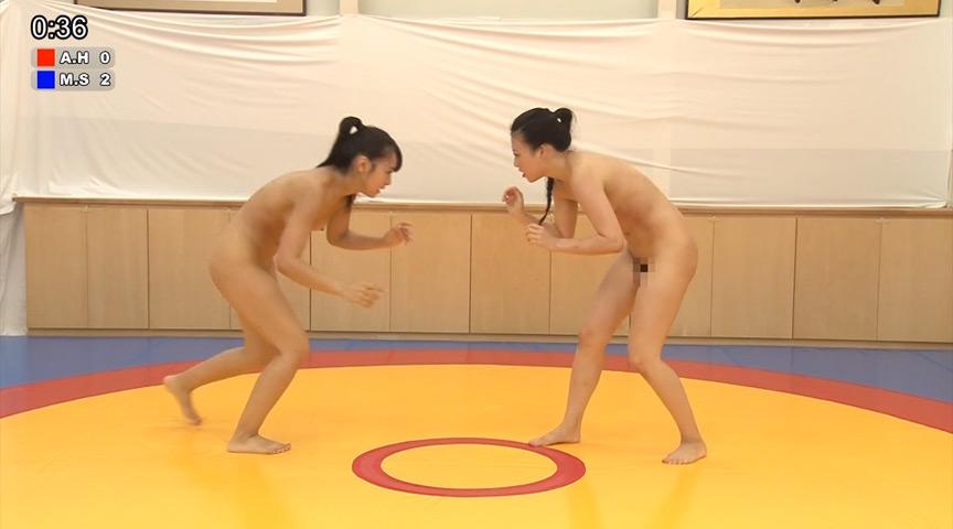ガチンコ全裸女子レスリング 48kg級編