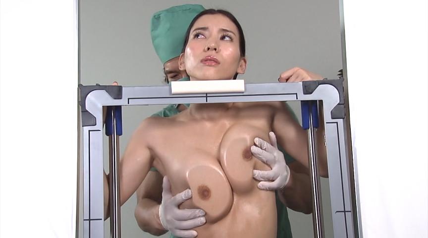 媚薬効果で発情した巨乳を背後から揉みしだき生合体しながらレントゲン撮影