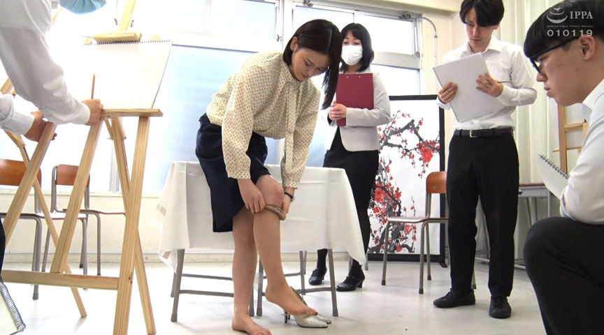 春画のデッサンモデルにされる新任女教師! 皆川るい 画像 2