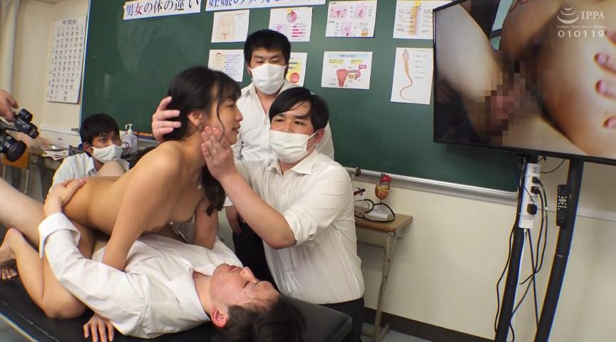 IdolLAB   sadibirenau-0046 新任女教師が学習教材される男子校の性教育 宮崎リン