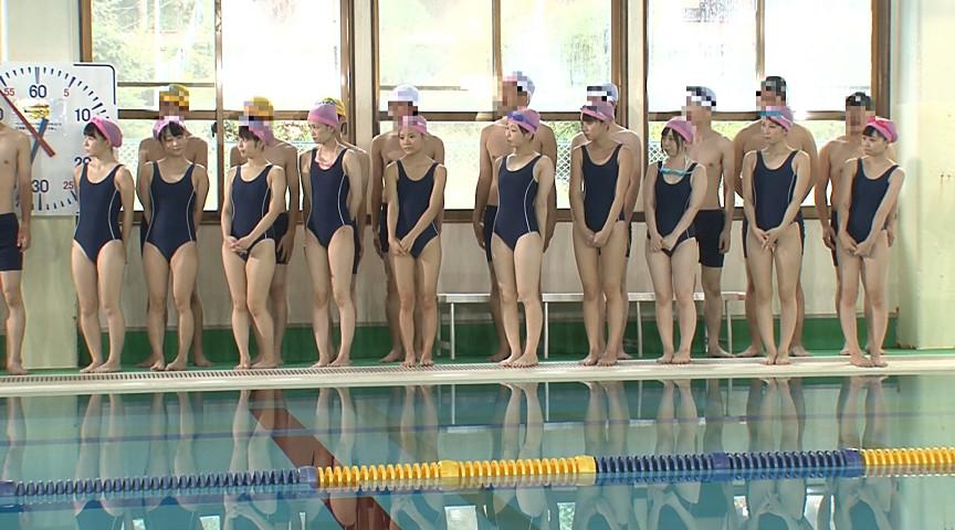 ●学生のスクール水着が水に溶けて10人全員素っ裸!! 画像 1
