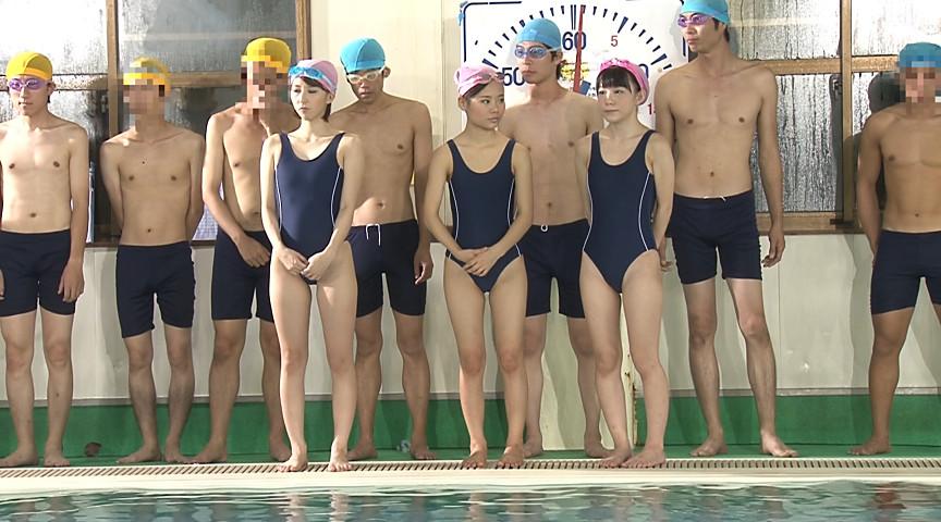 ●学生のスクール水着が水に溶けて10人全員素っ裸!! 画像 21
