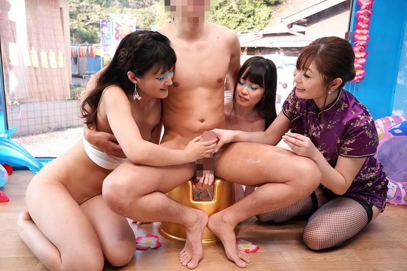 素人ビキニ娘にソープ嬢の激エロテクニックを見せたら 画像 6