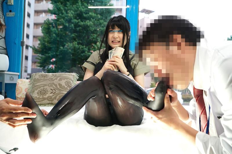 濡れると光るストッキングを履いてもらって美脚を堪能! 画像 8