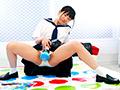"""女子○校生が制服姿で""""固定電マ""""ツイスターゲーム!【3】"""