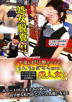 【たまき動画】下品ながに股ポーズでうんちとおならをする素人女3 -スカトロ