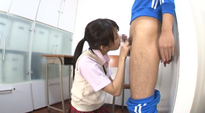 黒ストを穿いた女子校生、淫らに尻コキ 画像 8