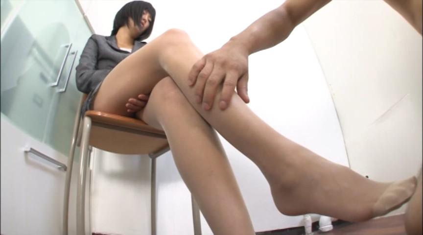 ベージュパンストで魅惑の脚コキ 画像 3