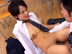短髪美少女の男装萌えデビュー 向井ai