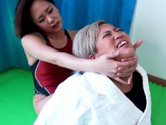 女子柔道VS女子アマレス リベンジ女子格バトル