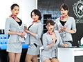 SEISHIDO 赤い口紅の美容部員のフェラごっくんサービス