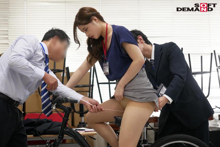 SOD女子社員 2穴交互挿入アクメ自転車がイクッ 華井理恵 画像 1