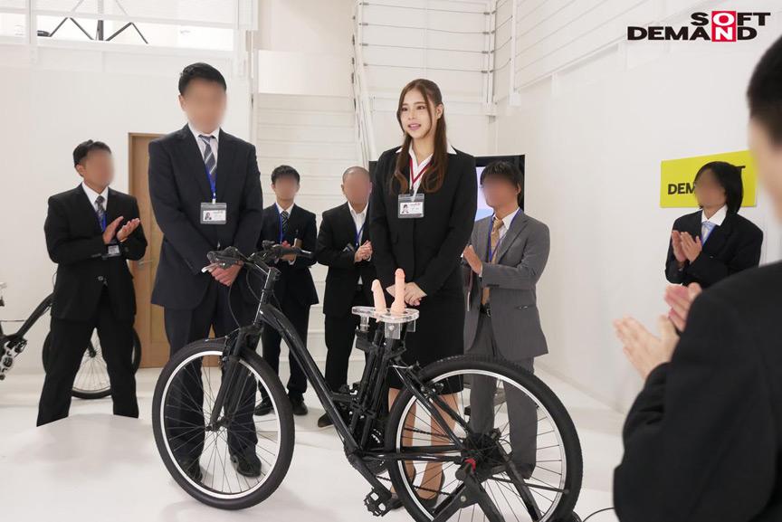 SOD女子社員 2穴交互挿入アクメ自転車がイクッ 華井理恵 画像 5