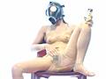 シュルレエル ガスマスクと飴色ラバーで3Pのサムネイルエロ画像No.1
