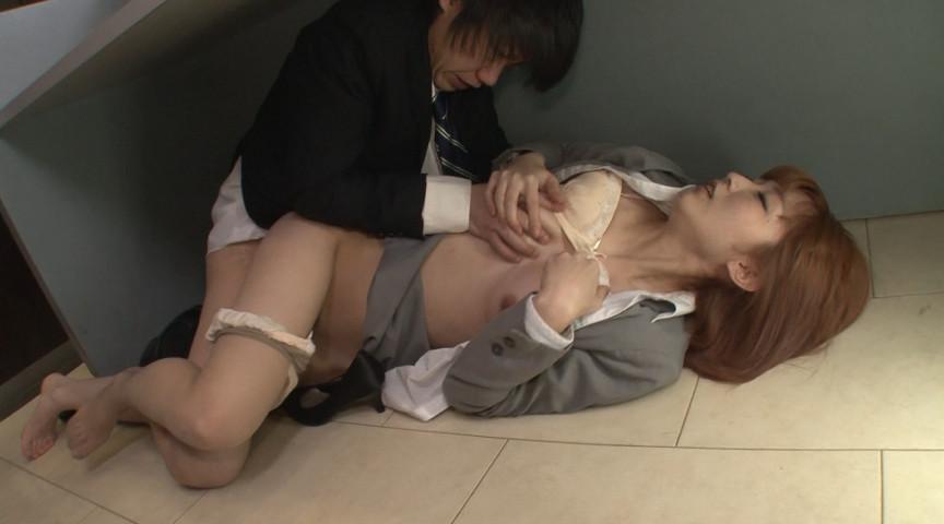 「社内羞恥パンストを一人で楽しむ女子社員」のサンプル画像
