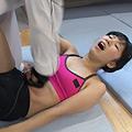 【DUGA限定】腹パンチにうずくまる女の姿