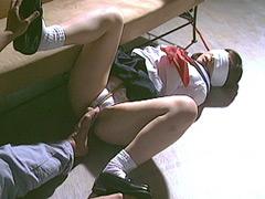 【SM動画】制服着衣捕縄調教