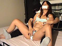 美女スパイ拷問3 拘束&テープギャグ [猿轡]
