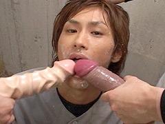 【ゲイ ビデオ】究極の着エロdandan~ナインぶっかけ~