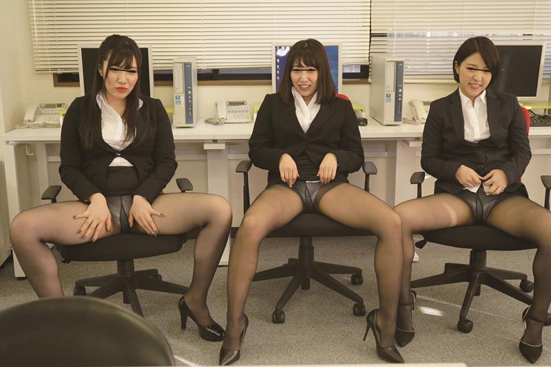 女子社員の黒パンスト誘惑 欲求不満な美人女子社員 画像 3
