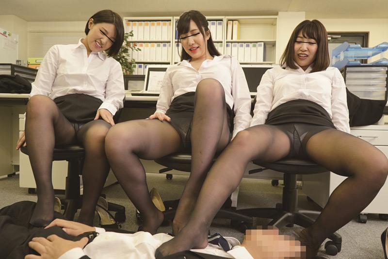女子社員の黒パンスト誘惑 欲求不満な美人女子社員 画像 6