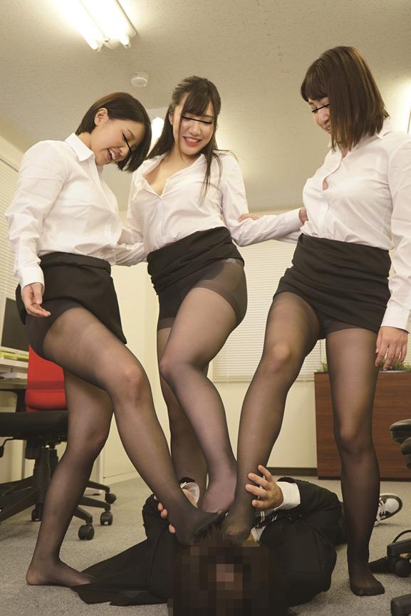 女子社員の黒パンスト誘惑 欲求不満な美人女子社員 画像 7