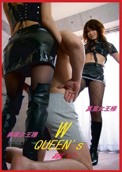 The W QUEEN's 蹴り!