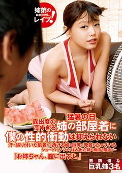猛暑の日、露出度の高すぎる姉の部屋着に僕の性的衝動は抑えられない