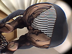 ランジェリーのモニターと称して、むっちりOLを嵌めてみた! ランジェリー試着室【床下カメラ】7005-1001