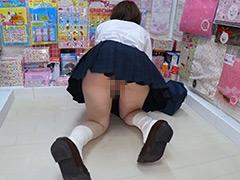 【盗撮動画】商品が床置きになっている四つん這いショップ5501-002