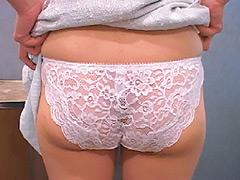 下着:素人女子が私服で生パンツ見せてくれた。