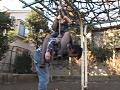 高身長クイーンの公園緊縛-4