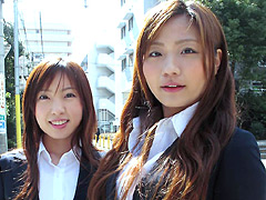 祝!!卒業式&入学式直後に女子校生&女子大生ナンパ