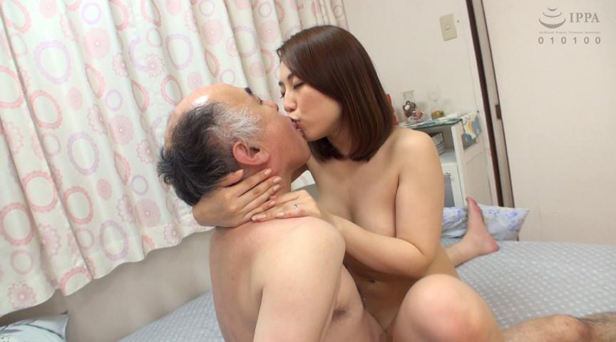 デカ乳妻が義父と濃厚ベロキスしながら密着中出しSEX!2