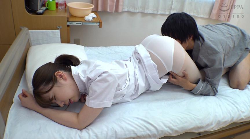 入院中の息子が看護師のデカ尻義母に媚薬を飲ませると 画像 2