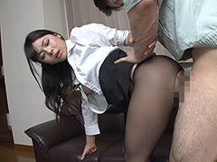 パンスト:女上司の無防備なパンストにたまらず勃起! 4